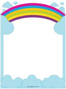 Big Rainbow Border