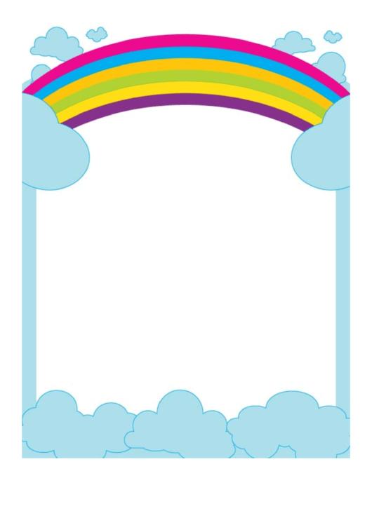 Big Rainbow Border Printable pdf