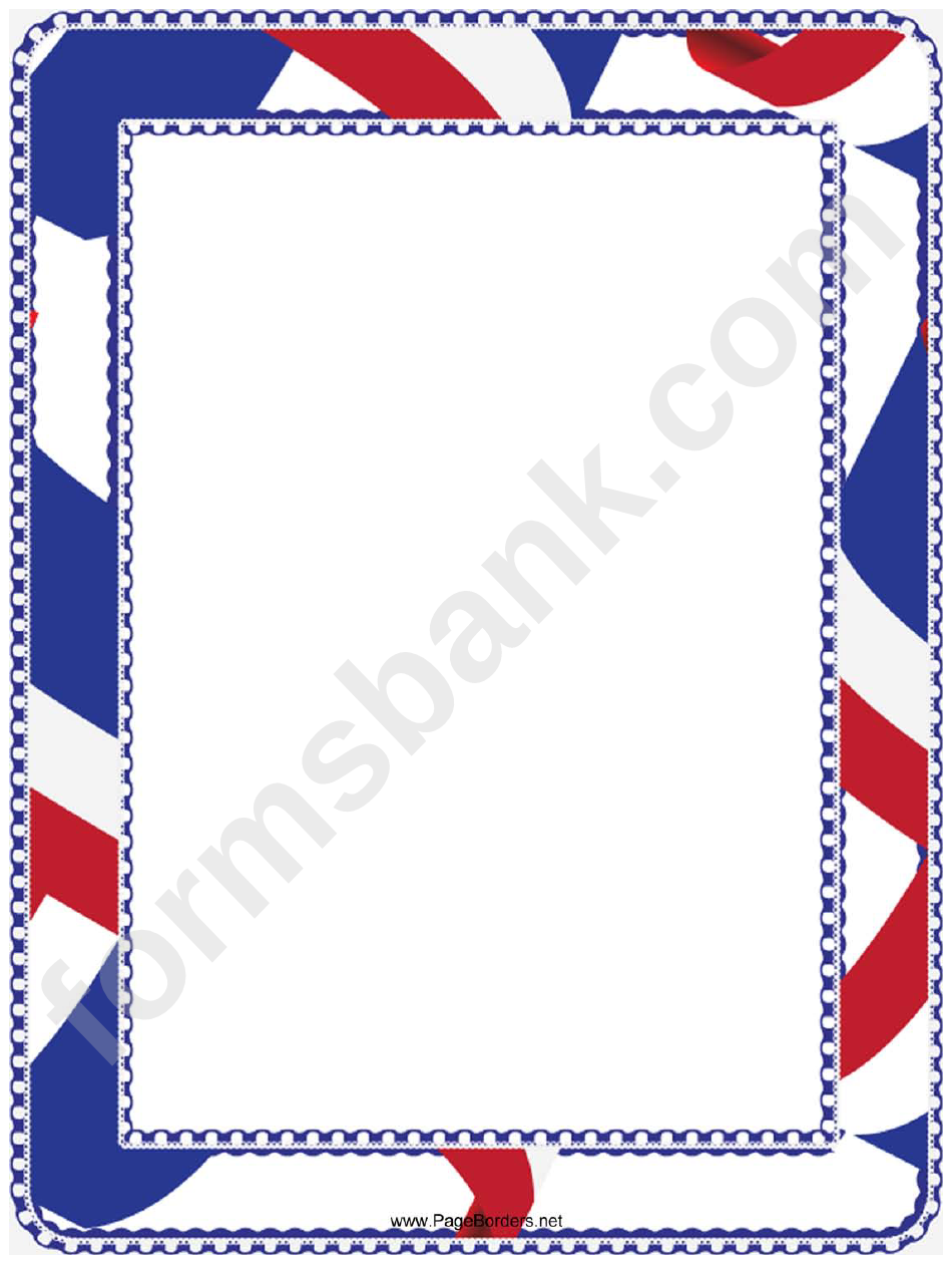 Red White And Blue Page Border Template