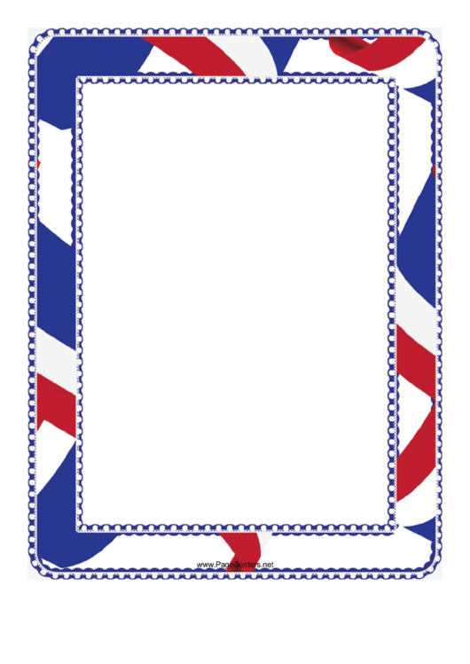 Red White And Blue Border