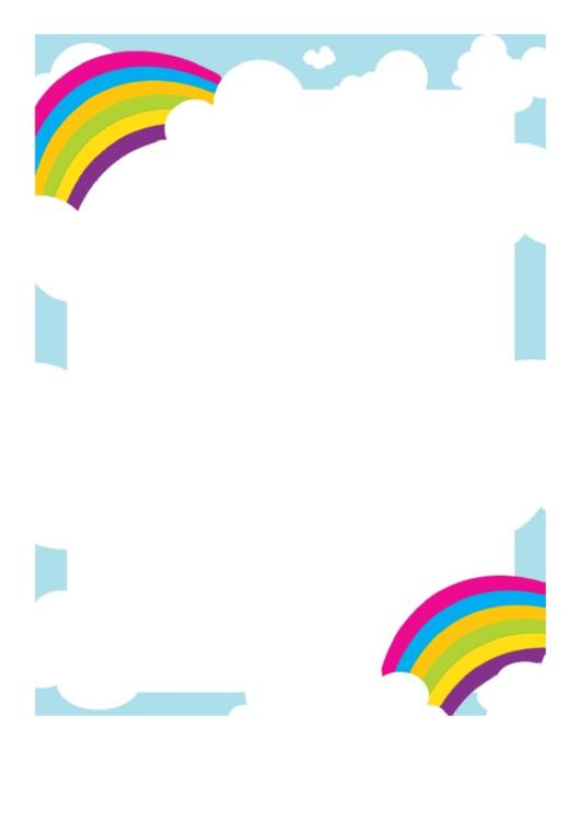 Pair Of Rainbows Border Printable pdf
