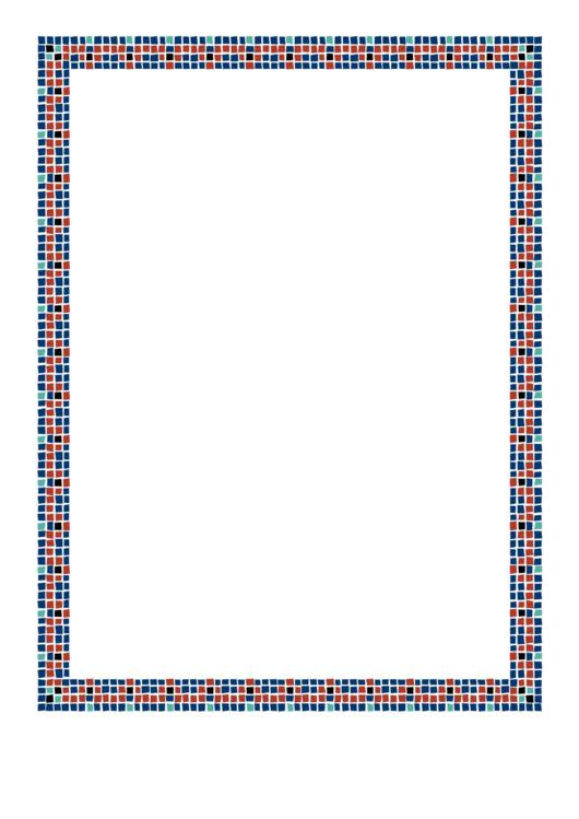 Mosaic Border Printable pdf