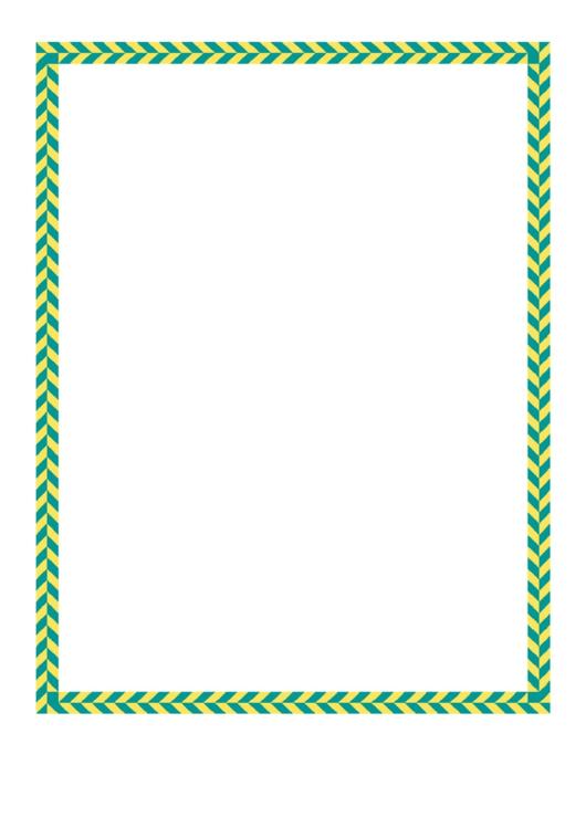 Green Yellow Diagonal Border Printable pdf