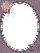 French Postage Stamp Border