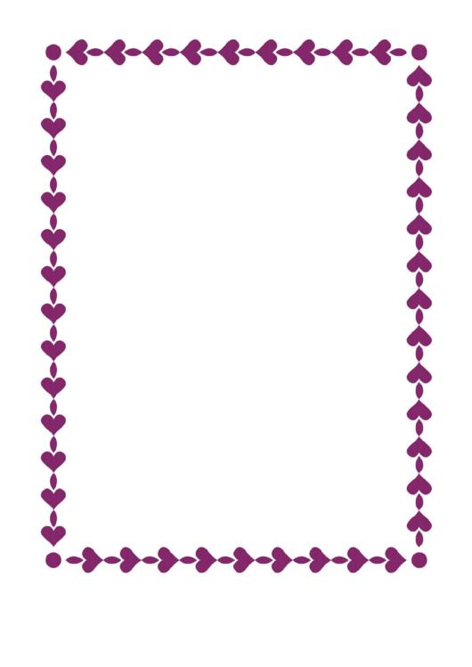 String Of Hearts Border Printable pdf