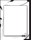 Dignified Black And White Border