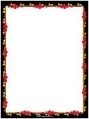 Red And Gold Garland Border