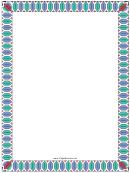 Colorful Geometric Border