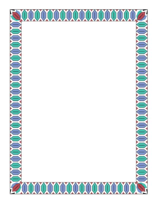 Colorful Geometric Border Printable pdf