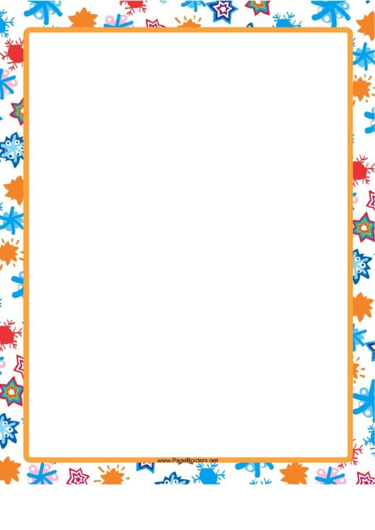Hand-Drawn Orange Border Printable pdf