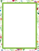 Green Hand-drawn Border