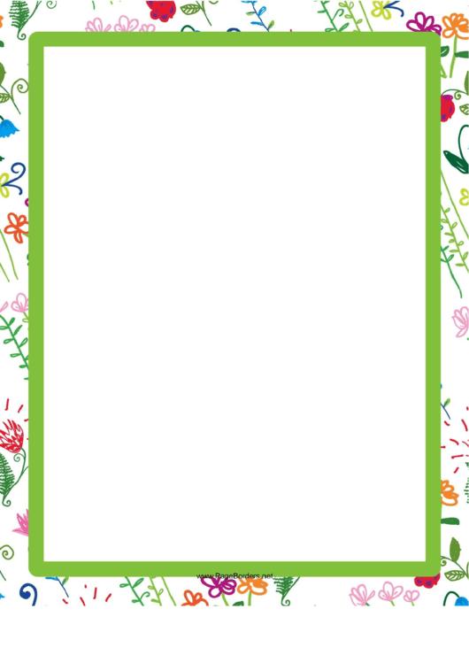 Green Hand-Drawn Border Printable pdf