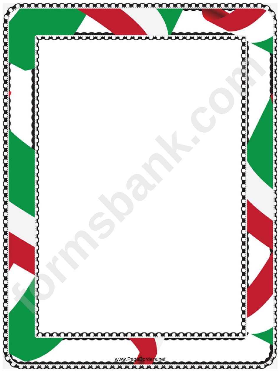 Red White And Green Border