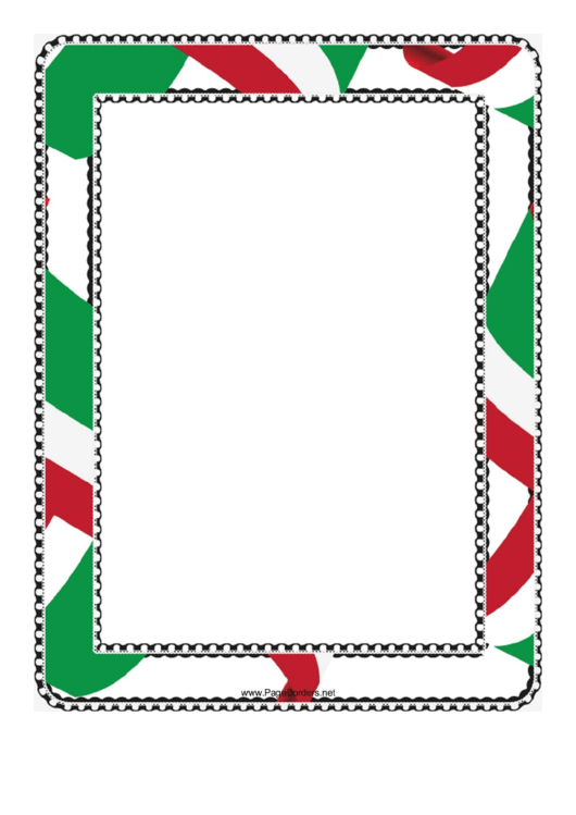 Red White And Green Border Printable pdf