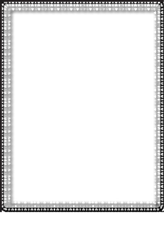 Hearts Black And White Border Printable pdf
