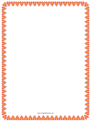Red And Orange Hearts Border