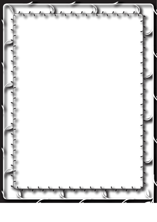 Vines Black And White Border Printable pdf
