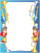 Guitars Horns Border