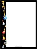 Horns Guitars Bells Border