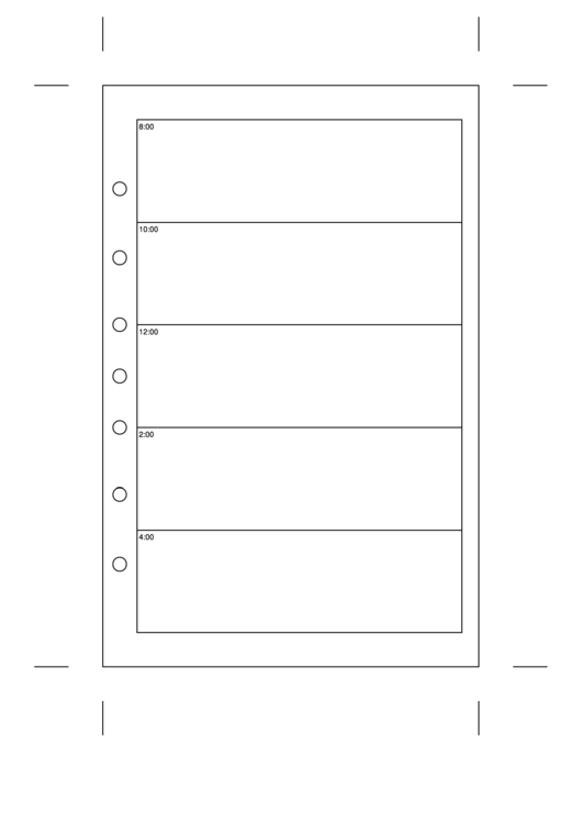 Daily Planner Template - Day On A Page Printable pdf