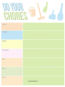 Teenager Chore Chart Template