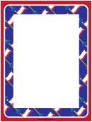 Blue Flags Border