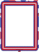 Red White And Blue Eyelet Page Border Template