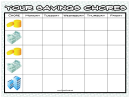 Chore Chart Template With Savings