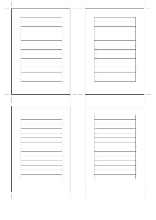 Small Organizer Lined Note Page