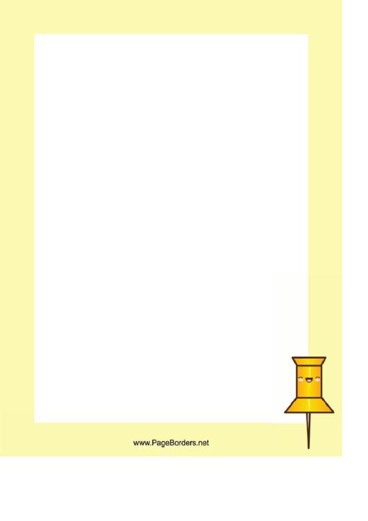 Pushpin Border Printable pdf