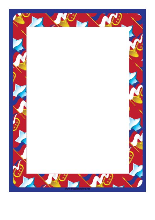 Stars And Horns Border Printable pdf