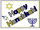Happy Hanukkah Sign Template
