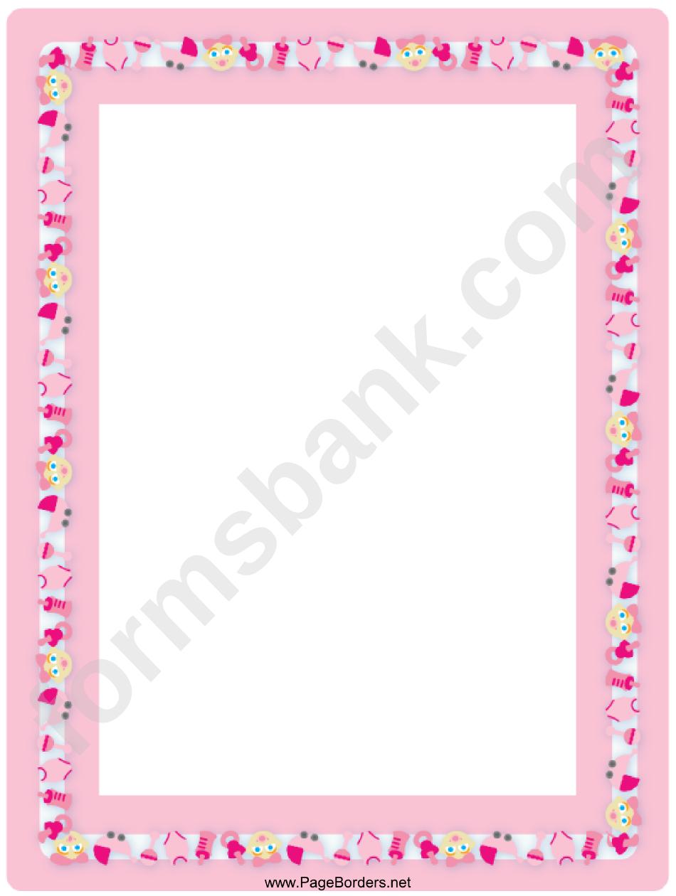 Baby Girl Border printable pdf download