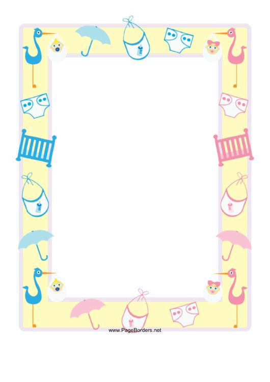 Baby Shower Border Printable pdf