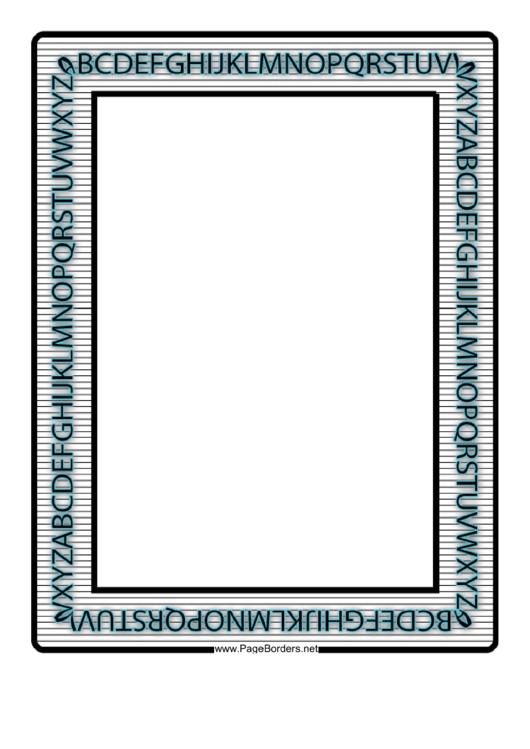 Letters Border Printable pdf