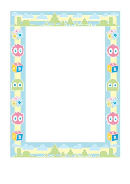 Preschool Border Printable pdf