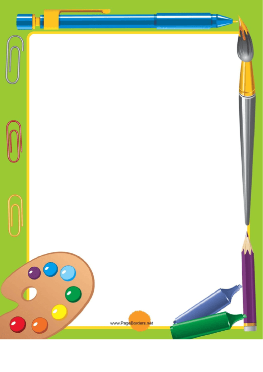 School Art Border Printable pdf