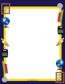 Classroom Supplies Border