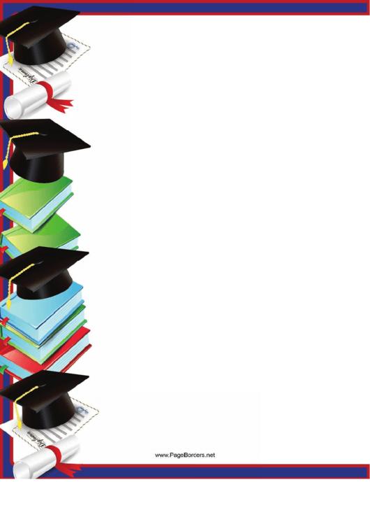 Graduate Border Printable pdf