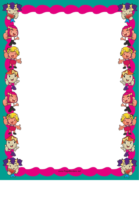 Happy Kids Border Printable pdf