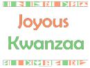 Joyous Kwanzaa Sign Template