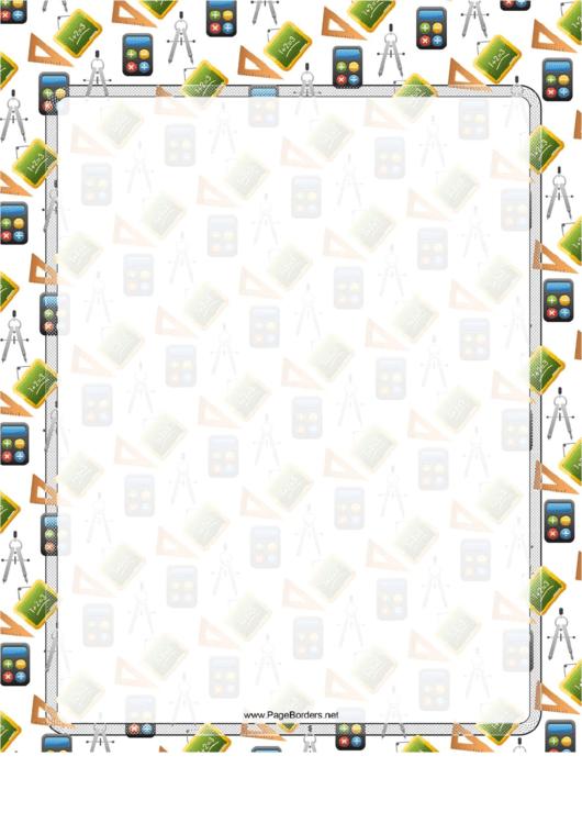Math Tool Border Printable pdf