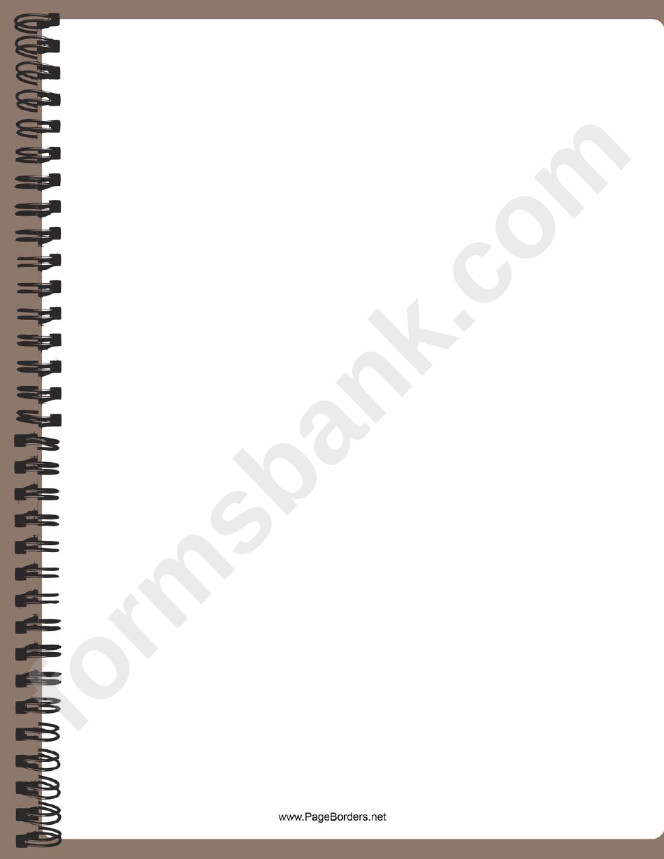 Spiral Notebook Border