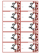 Monogram Z Script Gift Tag Template