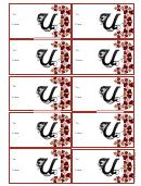 Monogram U Script Gift Tag Template
