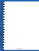 Blue Spiral Notebook Border