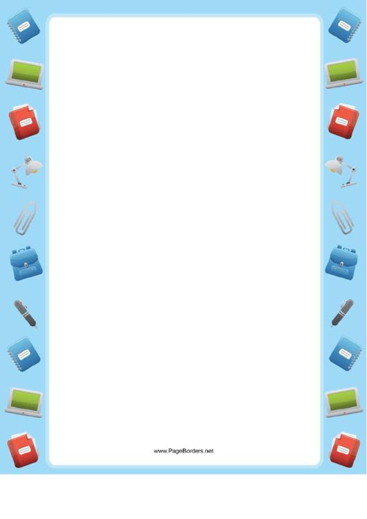 Homework Border Printable pdf
