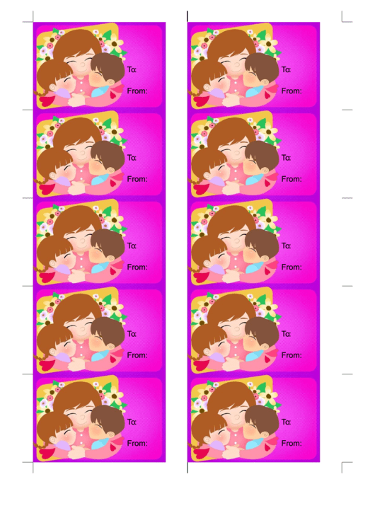 Mothers Day Gift Tag Template Printable pdf