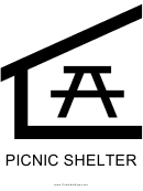 Picnic Shelter With Caption Sign