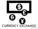 Currency Exchange With Caption Sign